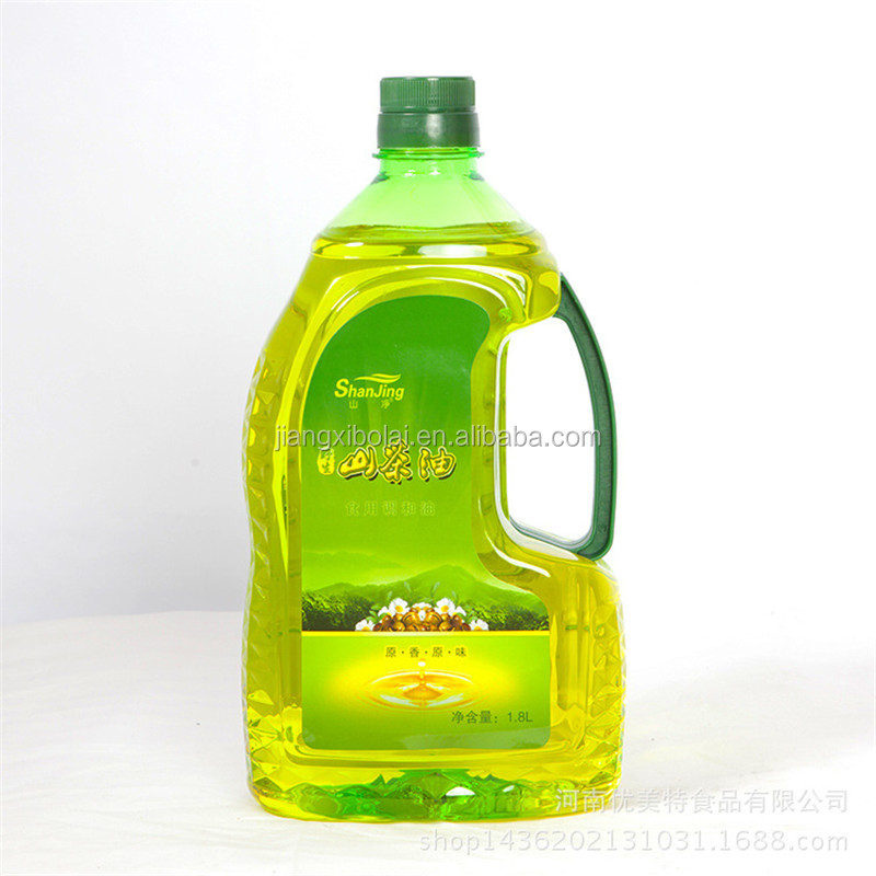 2016 best selling 1.8L plastic cooking oil bottles with handle and label printing