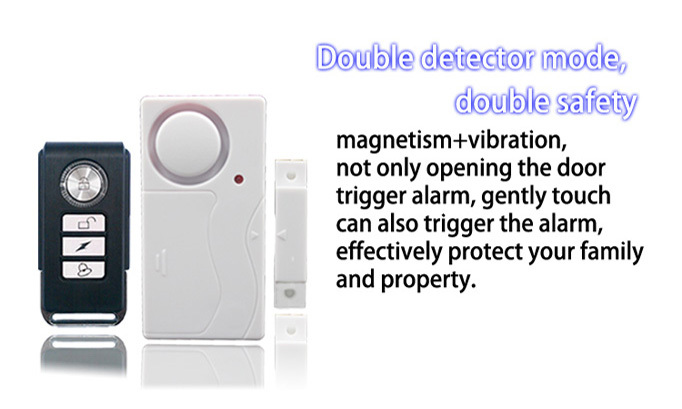 Remote Control Wireless Magnet Door Alarm , door open Magnetic sensor Alarm,home security alarm system