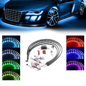 6W Car LED Neon Undercar Glow light Underglow Atmosphere Decorative Bar Lights Kit Strip 5050 SMD Underbody System Waterproof