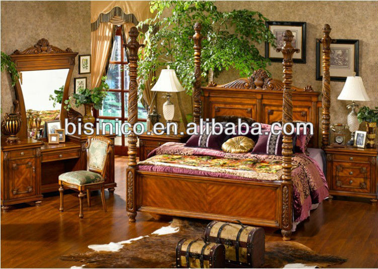 style am ricain mobilier de chambre de luxe pays d 39 am rique style soild bois de chambre. Black Bedroom Furniture Sets. Home Design Ideas