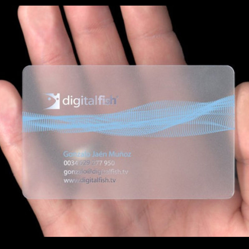2015 Free Design Free Sample Plastic Transparent Pvc Business Cards ...