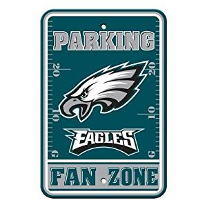 "Philadelphia Eagles NFL ""Fan Zone"" Parking Sign 12"" x 18"""