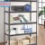 Double galvanized home use metal shelf storage rack for sale
