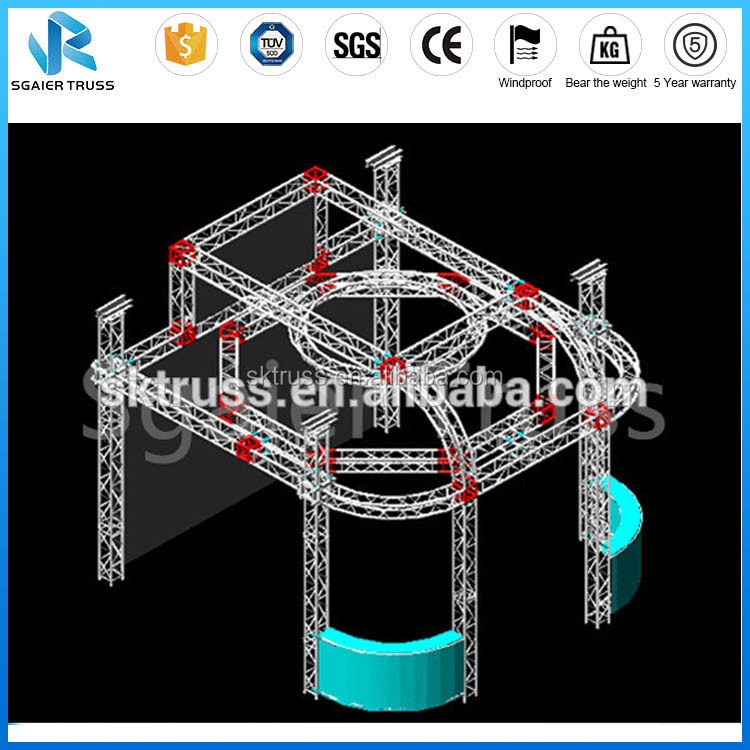 Used Aluminum 290*290mm exhibition show truss system, exhibition lighting truss