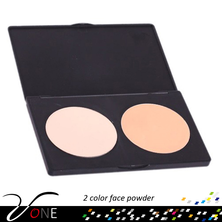 Highlighter and bronzer 2 color pressed contour waterproof face powder with your private label