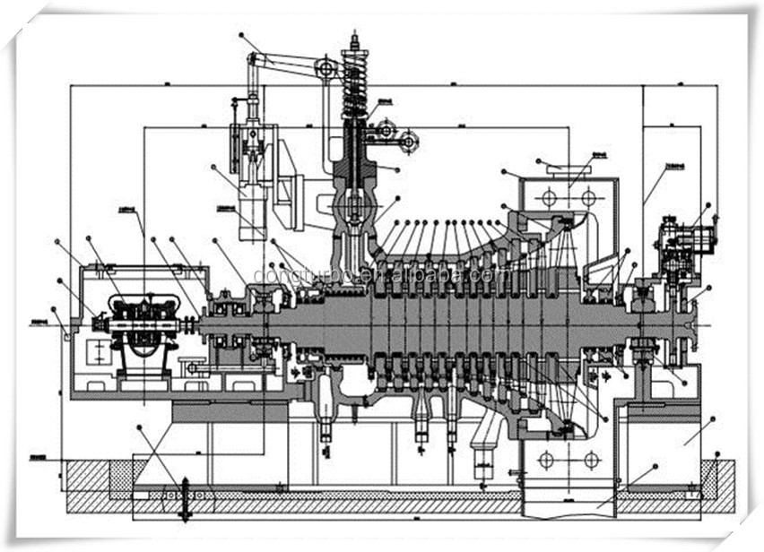 Supercritical Steam Generator ~ Kw class generator steam turbine for coal fired