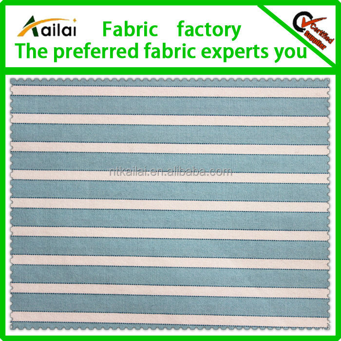 green white striped poplin fabric