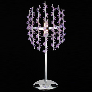 Hot Selling Fancy Decorative Purple Crystal Modern Table Lamp
