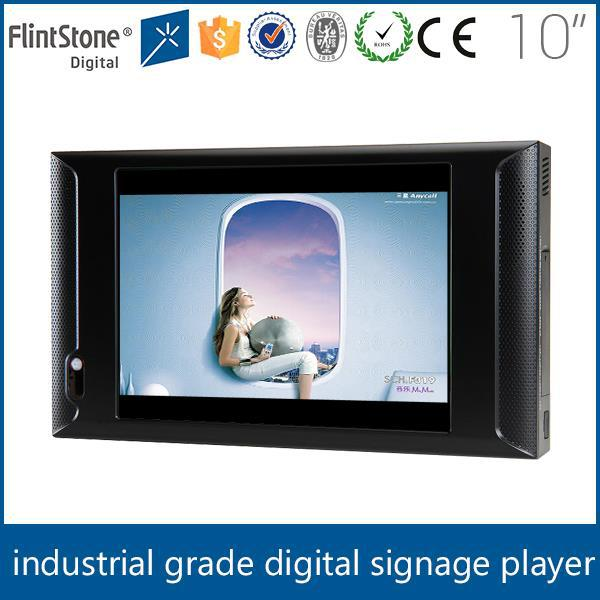Flintstone digital 10 inch table top ads player, marketing screen ad monitor, commercial motion sensor advertisement lcd screen