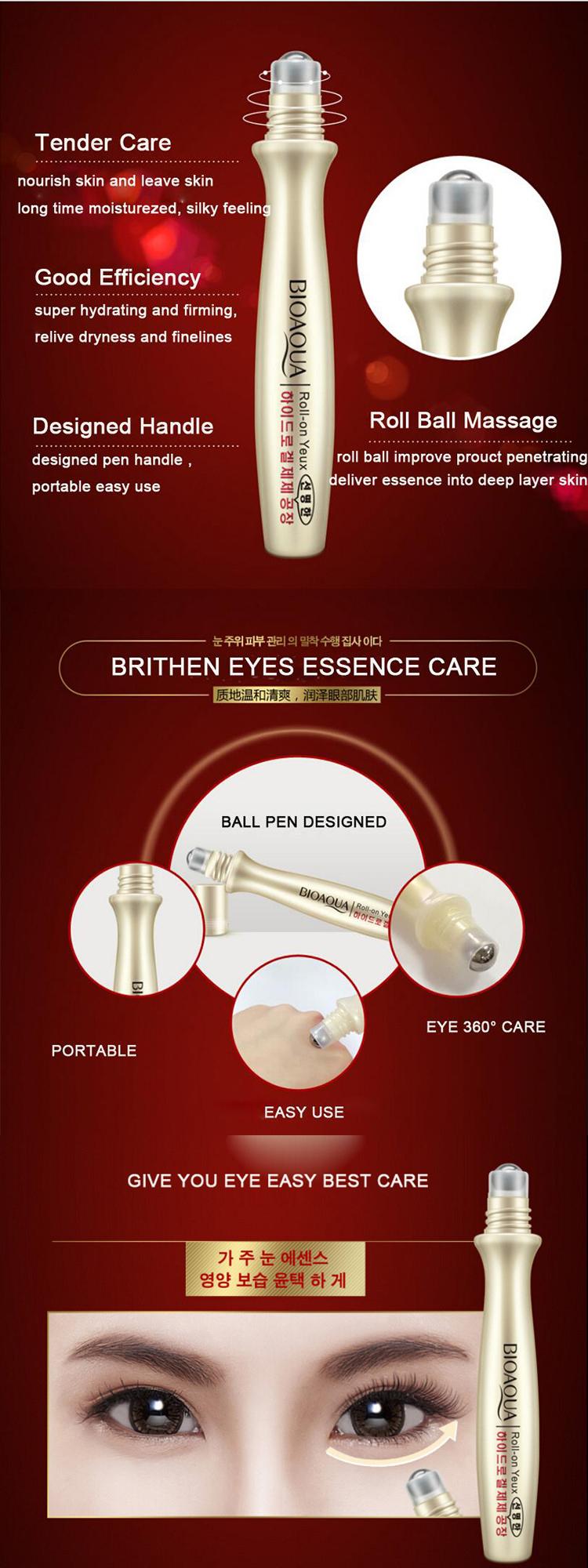 Bioaqua Vivid Roll On Esensi Hydrating Anti Kerut Penuaan Eye Care Essense Serum Mata Keriput Lingkaran Hitam Remover