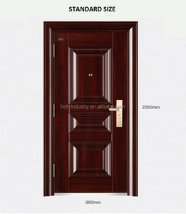 High quality china manufacturer interior fire steel security kenya main door designs for home