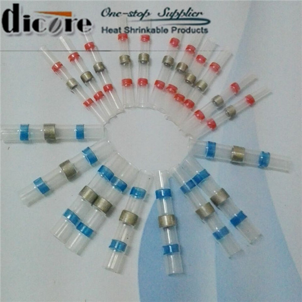 In-line Insulation Solder Sleeve Wire Splices Heat Shrinkable Joint ...