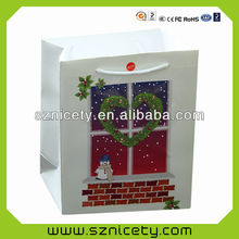 Multi-color paper bag with LED lights