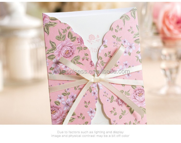 Korean style pink wedding invitation cards laser invitation korean style pink wedding invitation cards laser invitation wedding invitation letter for event party supplies stopboris Gallery