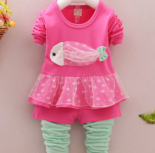 S10484A Children clothes set, kids long sleeve blouse and pant clothes set, child clothes