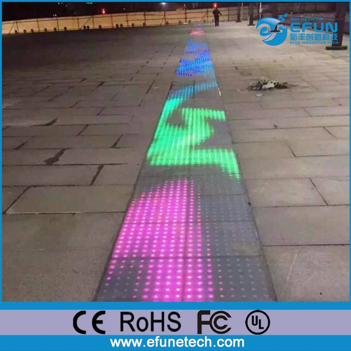 Outdoor Led Rgb Color Changing Interactive Sensor Dance