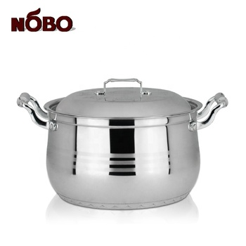 Durable Industrial Heavy Cooking Pot Set Stainless Steel Turkish Cookware with Double Handle