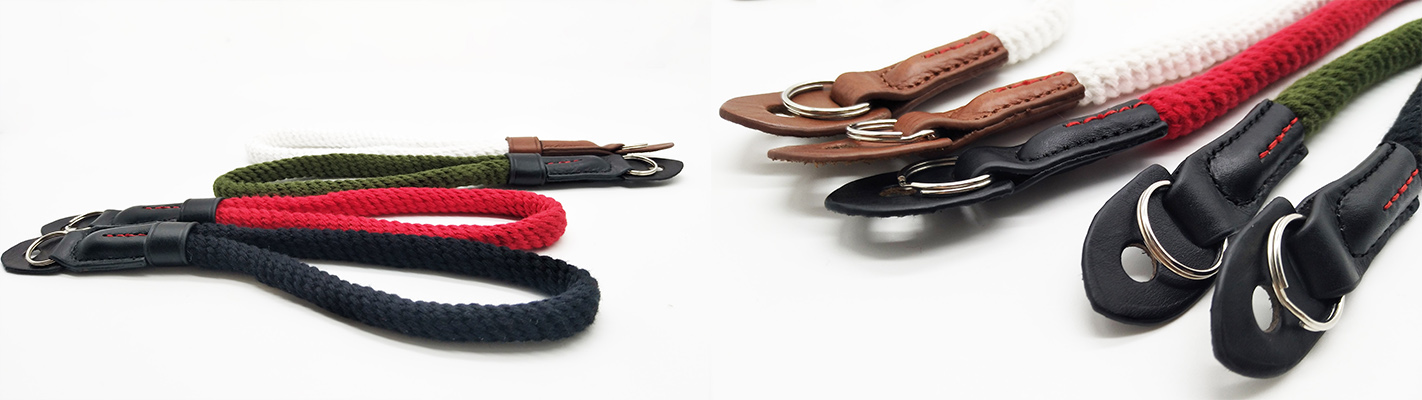 Low MOQ 100% Cotton Camera Hand Strap Rope Camera Strap