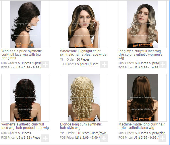 For many other models  Lady s long hair wig 2f0ee130e