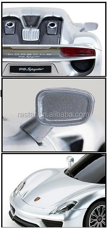 rastar licensed porsche 918 spyder electric toy car 1 24 models car toy for kids buy porsche. Black Bedroom Furniture Sets. Home Design Ideas