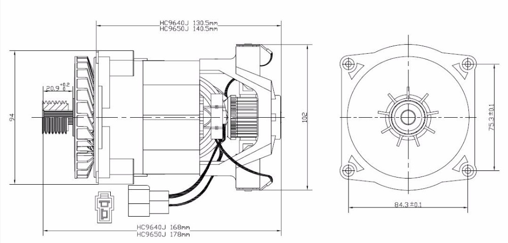 t hc9640j copper winding grass cutting machine motor