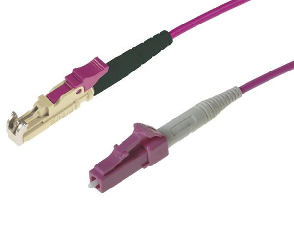 LC-LC 40//100G OM4 Violet 50//125 MultiMode Duplex Fiber Patch Cable Lot