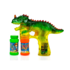 Dinosaur Bubble Shooter Gun Light Up Bubbles Blower with LED Flashing Lights and Sounds Dinosaur Toys for Kids, Boys and Girls