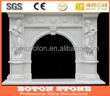 professional design white marble wood burning stove fireplace for christmas fireplace
