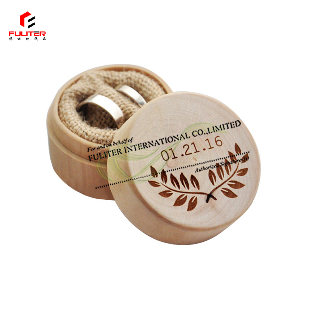 Simple and elegant small round wooden box / wooden round box