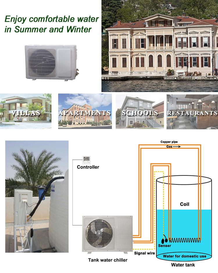 No MOQ 2 ton water tank chiller