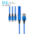 Wholesale Nylon-umsponnene Legierungs-Mikrousb-Kabel, Universalhandy-Typ-C-USB-Kabel, intelligentes Aufladen 3 in 1 Usb-Kabel für iPhone