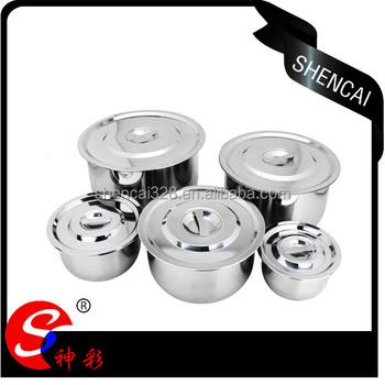 Wholesale 10pcs Thai Stainless Steel Stock Pot Set/cookware Set ...
