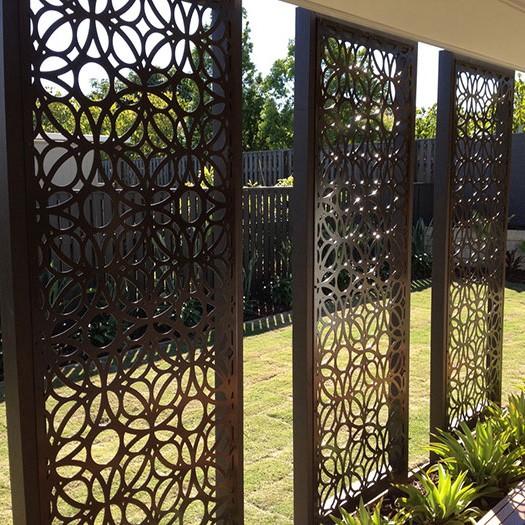 Garden Decor Screen: Metal Laser Cut Decorative Screen System