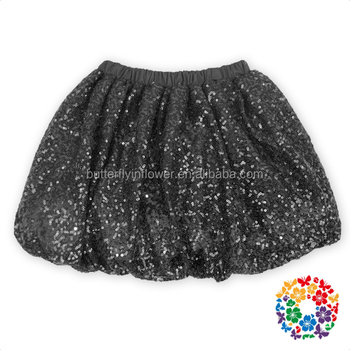 facbb11726 La última manera viste los niños frock modelo negro falda de lentejuelas  superior con cintura elástica
