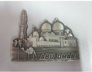 ABU DHABI Metal fridge magnet