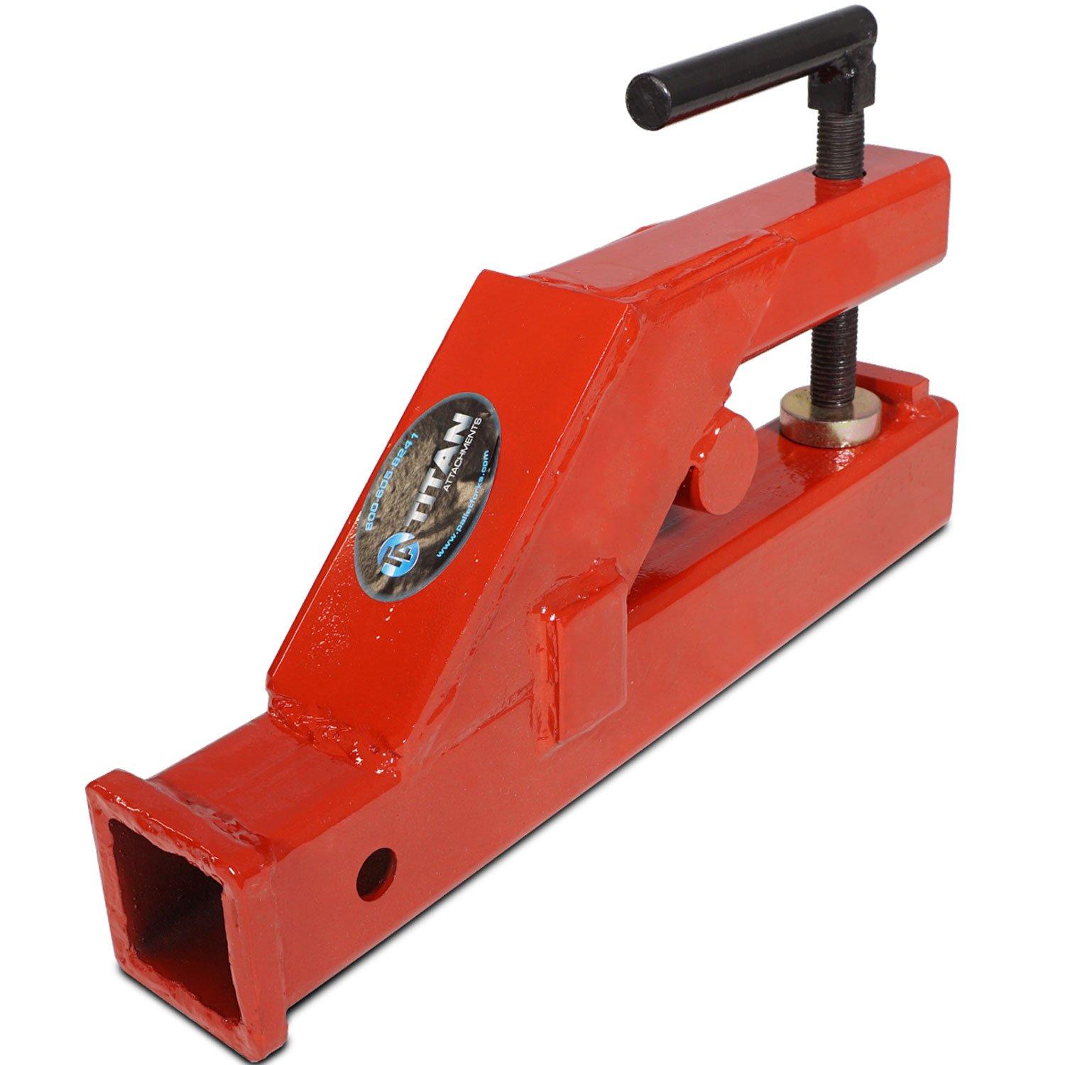 Tractor Bucket Hoist : Buy clamp on tractor bucket forks receiver hitch skid