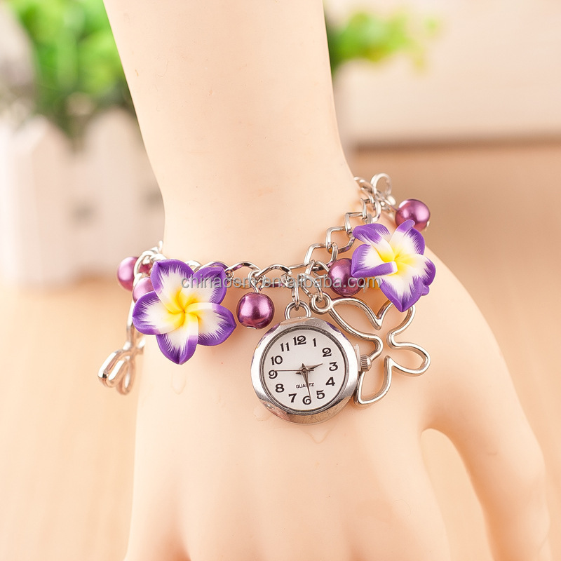 Top Sales Yellow Flower Watch Girl Best Birthday Gift For Kids