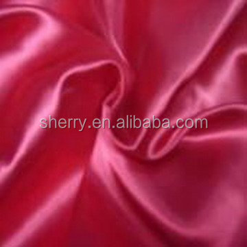Fabric supplier High quality Beautiful polyester royal green satin fabric in shaoxing