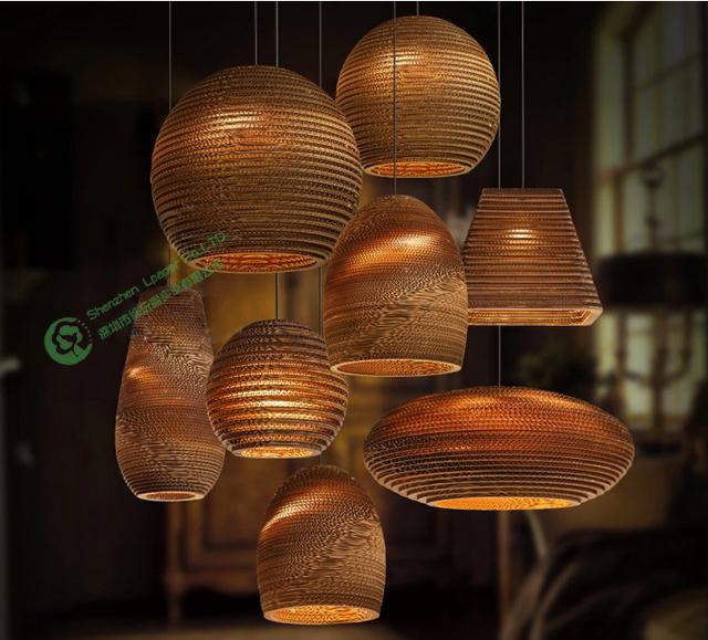 populaire vente de l 39 environnement papier ondul lustre lampe ondul e lustre chambre lampe. Black Bedroom Furniture Sets. Home Design Ideas