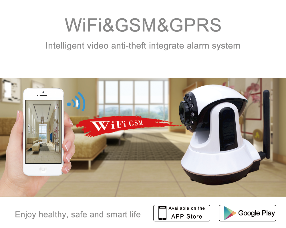 Wif Gsm Wireless Apartment Security Alarm System With Door ...
