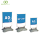 Customized poster board A type stand pavement sign with multiple colors