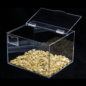High Class Customized Storage Box Retail Store Supermarket Plastic Food Grade Acrylic Candy Box With Lid