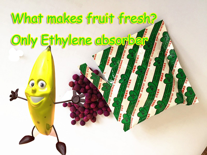 High adsorption capacity ethylene absorber for fruit /flowers/vegetables chinese factory