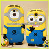 Funny rubber despicable me minion case for samsung galaxy s3 s4 s3mini s4mini