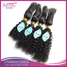 Hot sale water wave Brazilian braid in weave braid in human hair bundles from china hair factory