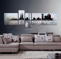 Home Goods Abstract Painting Buildings Canvas Wall Art for Decoration