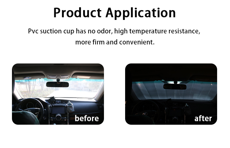ZY-Q-011 High quality car dashboard custom fit vehicle sun visitors