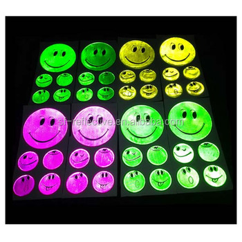 Factory price high visibility light pvc reflective round sticker wallpaper for kids