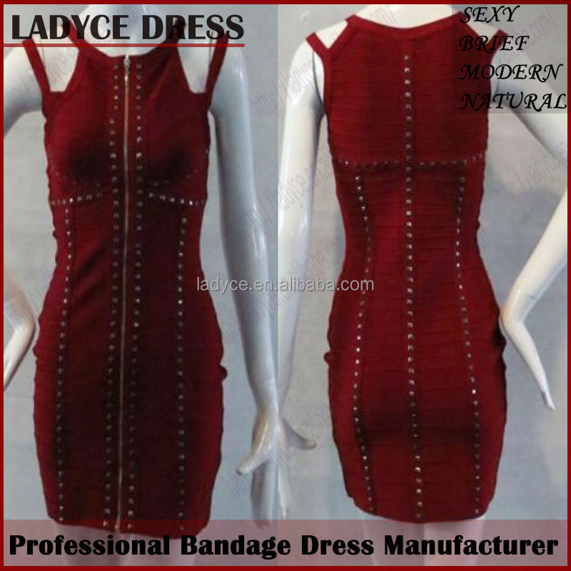 Wholesale real sample dark red beaded studded strapless bodycon mother of bride dress good time usa dress