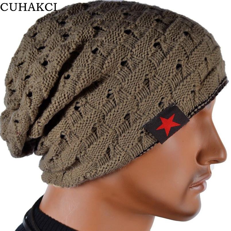 CUHAKCI 겨울 따뜻한 새로운 패션 해골 Chunky 체크 니트 비니 여성 뒤집을 헐렁한 눈 모자 따뜻한 유니섹스 모자 8 색